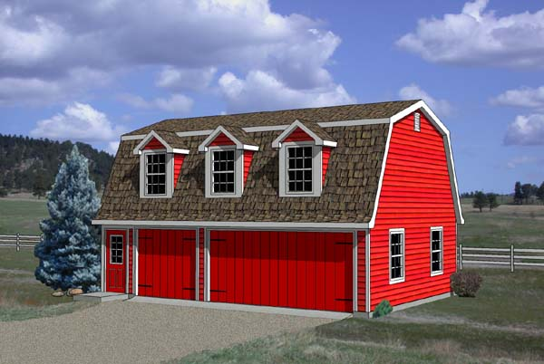 Garage Plan 94348 Elevation