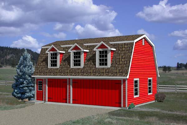 Garage Plan 94348 Elevation