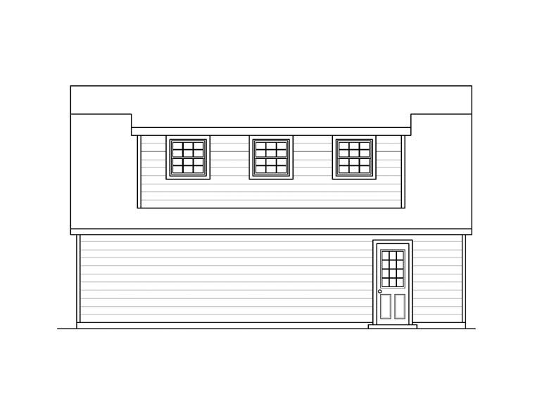 Garage Plan 94348 Rear Elevation