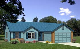 Ranch House Plan 94360 Elevation