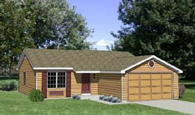 Ranch House Plan 94368 Elevation