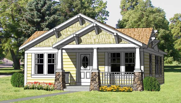 Cottage Country Craftsman House Plan 94371 Elevation