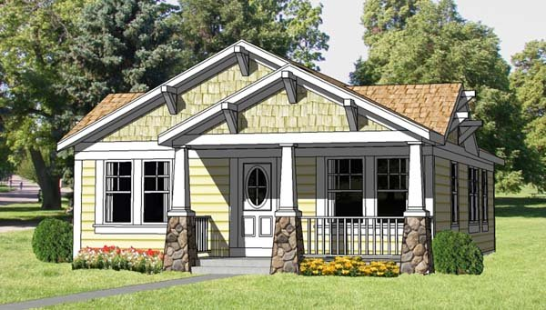 Cottage, Country, Craftsman House Plan 94371 with 3 Beds , 2 Baths Elevation