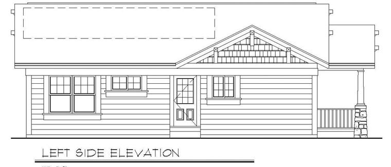 Cottage, Country, Craftsman House Plan 94371 with 3 Beds, 2 Baths Picture 1