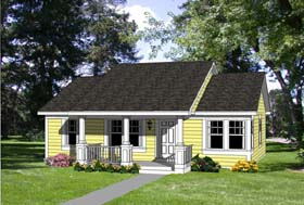 Country Ranch House Plan 94372 Elevation
