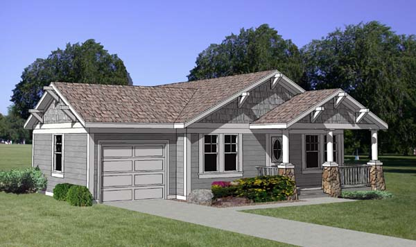 Bungalow Country House Plan 94374 Elevation