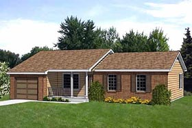 Ranch House Plan 94375 Elevation