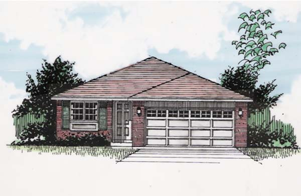 One-Story , Traditional , Elevation of Plan 94376