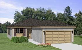 Traditional House Plan 94379 with 3 Beds, 2 Baths, 2 Car Garage Elevation