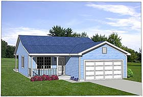 Ranch House Plan 94381 Elevation