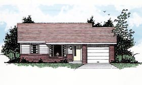 Ranch House Plan 94382 Elevation
