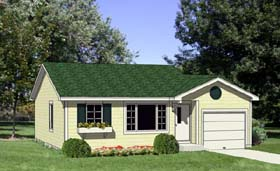 Ranch House Plan 94383 Elevation
