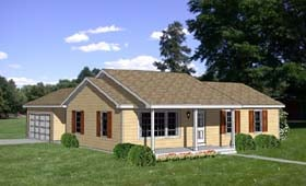 Ranch House Plan 94386 Elevation