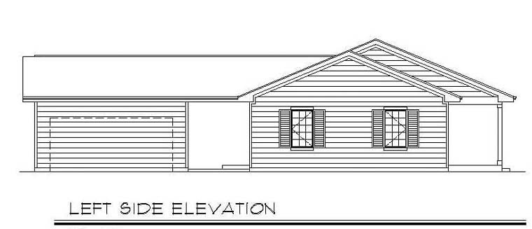 One-Story, Ranch House Plan 94386 with 3 Beds, 2 Baths, 2 Car Garage Picture 1