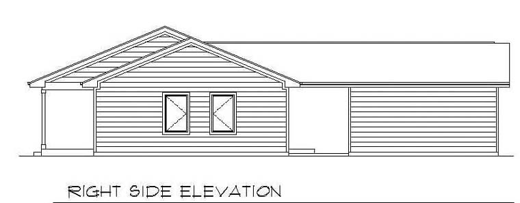 One-Story, Ranch House Plan 94386 with 3 Beds, 2 Baths, 2 Car Garage Picture 2