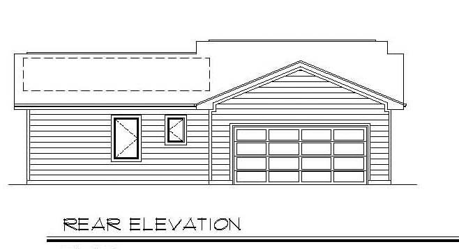 Ranch House Plan 94386 Rear Elevation