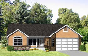 House Plan 94389 | Ranch Style Plan with 2025 Sq Ft, 3 Bedrooms, 3 Bathrooms, 2 Car Garage Elevation
