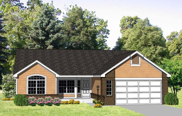 Ranch House Plan 94389 Elevation