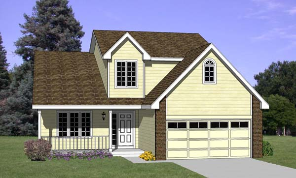 Country House Plan 94390 with 3 Beds, 3 Baths, 2 Car Garage Elevation