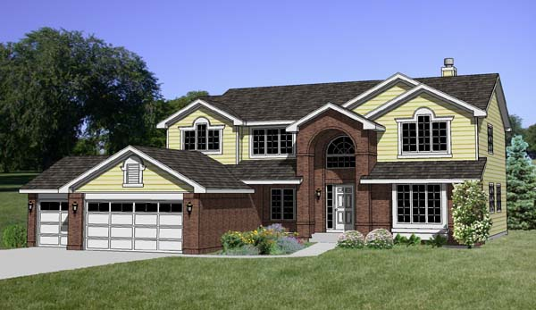 Traditional House Plan 94396 Elevation