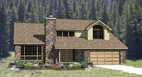 Contemporary Traditional House Plan 94398 Elevation
