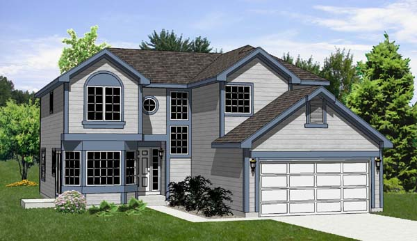 Contemporary Traditional House Plan 94413 Elevation