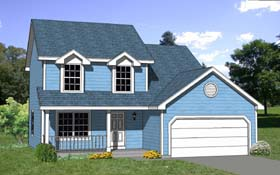 House Plan 94416 | Country Style Plan with 1505 Sq Ft, 4 Bedrooms, 3 Bathrooms, 2 Car Garage Elevation