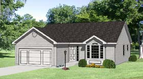 Ranch House Plan 94418 with 3 Beds, 3 Baths, 2 Car Garage Elevation