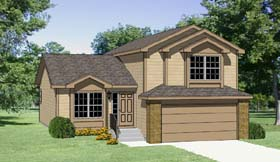 Contemporary , Country House Plan 94419 with 3 Beds, 3 Baths, 2 Car Garage Elevation