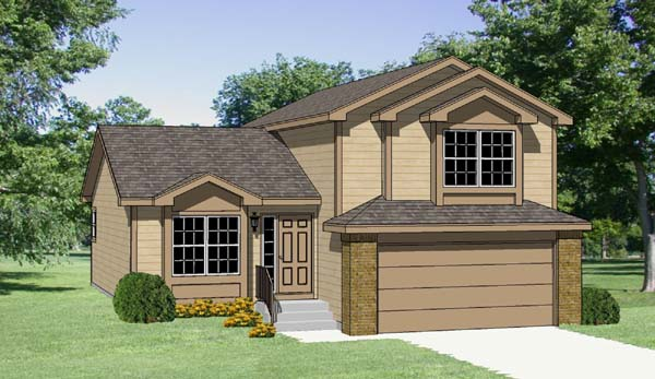 Contemporary, Country House Plan 94419 with 3 Beds, 3 Baths, 2 Car Garage Elevation