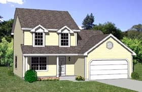 Country House Plan 94421 with 4 Beds, 3 Baths, 2 Car Garage Elevation