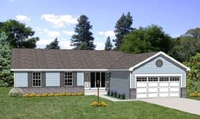 Ranch House Plan 94427 Elevation