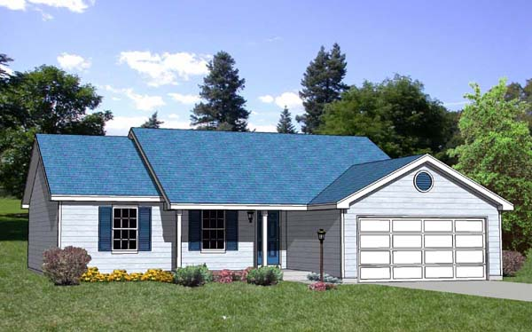 Ranch House Plan 94428 Elevation