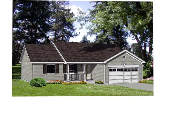 Ranch House Plan 94429 Elevation