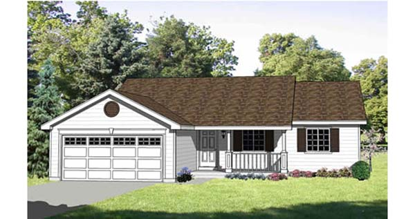 Ranch House Plan 94430 with 3 Beds, 2 Baths, 2 Car Garage Elevation
