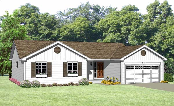 Ranch House Plan 94433 Elevation