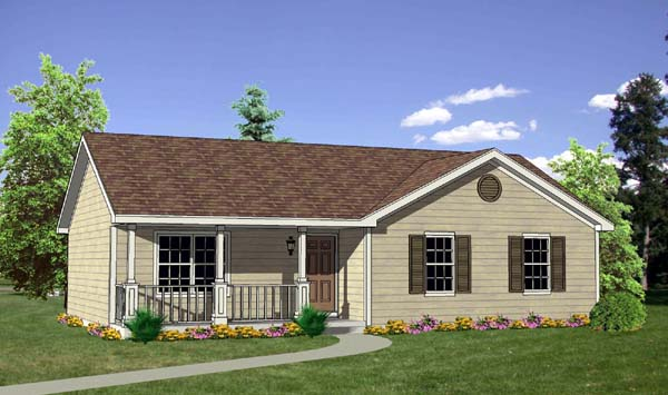 Ranch House Plan 94436 Elevation