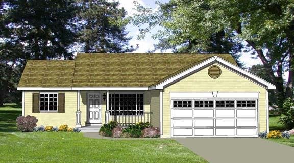 Ranch House Plan 94438 Elevation