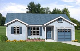 Ranch House Plan 94440 with 3 Beds, 2 Baths, 1 Car Garage Elevation