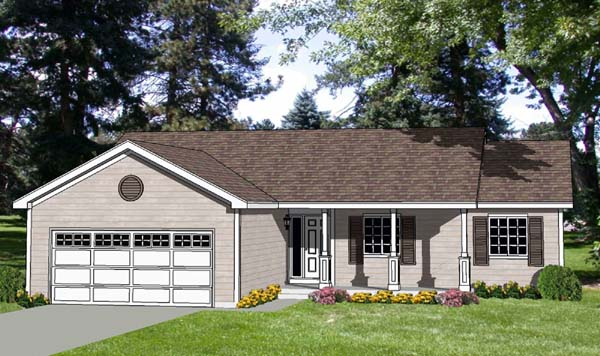 Ranch Elevation of Plan 94444