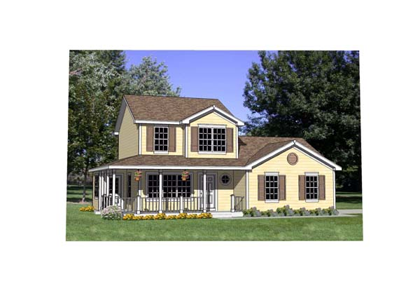 Country House Plan 94445 Elevation
