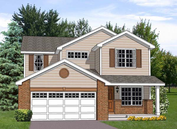 Traditional House Plan 94447 Elevation