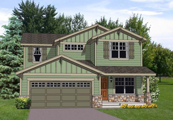 Craftsman House Plan 94448 Elevation