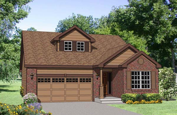 Ranch House Plan 94450 with 3 Beds, 3 Baths, 2 Car Garage Elevation