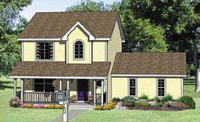 Country House Plan 94452 with 3 Beds, 3 Baths, 2 Car Garage Elevation