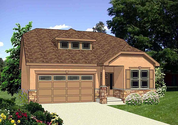 Southwest House Plan 94454 Elevation