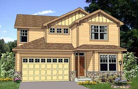 House Plan 94456 | Craftsman Style Plan with 2196 Sq Ft, 3 Bedrooms, 3 Bathrooms, 2 Car Garage Elevation