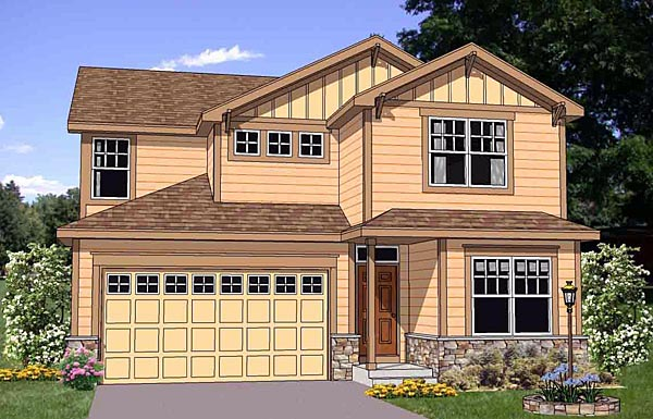 Craftsman House Plan 94456 Elevation