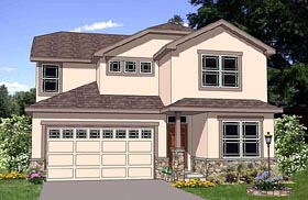 House Plan 94457 | Traditional Style Plan with 2196 Sq Ft, 3 Bedrooms, 3 Bathrooms, 2 Car Garage Elevation