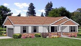 Craftsman House Plan 94463 with 2 Beds, 2 Baths, 2 Car Garage Elevation